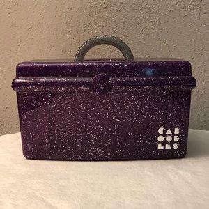 Vintage Purple Glitter Caboodles Makeup Case Box